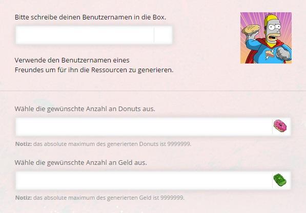Die Simpsons Springfield Donuts und Geld Online Hack